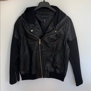 Sean John Hooded Moto Jacket Large